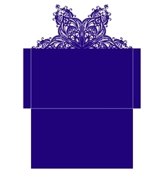 Template for decorative envelope vector
