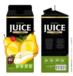 Template Packaging Design Pear Juice vector