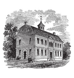 the old courthouse of new london vintage vector image