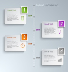 Timeline info graphic rectangle template vector