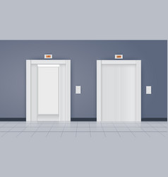 White doors in the room vector