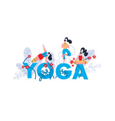yoga practice print seminar on yoga festival vector image