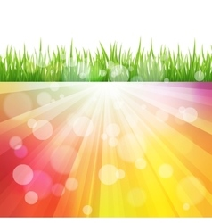 Bright color Sun Effect Background with vector image