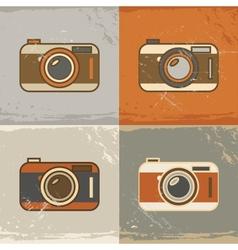 Camera icons vector image vector image