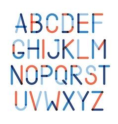 Color alphabet vector image vector image