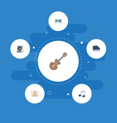 flat icons musical instrument acoustic octave vector image
