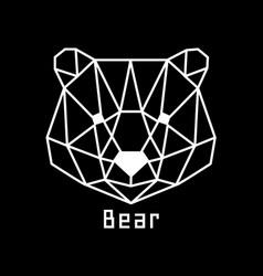 head of bear vector image