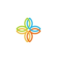 Isolated abstract colorful cross logo vector image vector image
