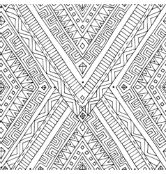 Seamless asian ethnic black and white pattern vector image