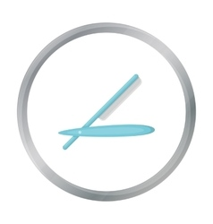 Straight razor icon in cartoon style isolated on vector image