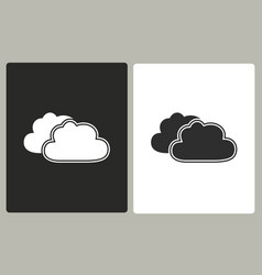 clouds sky - icon vector image