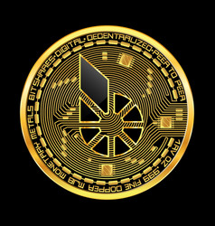 crypto currency bitshares golden symbol vector image vector image