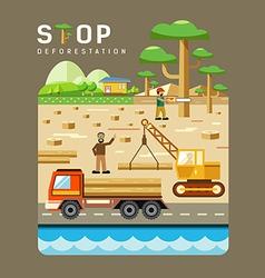 Deforestation concepts flat design vector image vector image