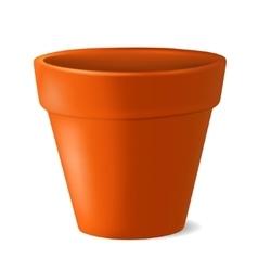 Empty flowerpot vector image