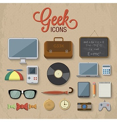 Geek accessories vector image
