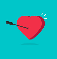 heart and arrow in flat vector image