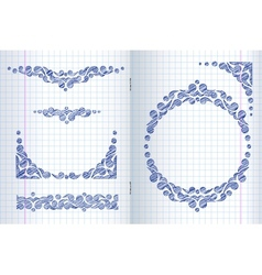 Ornate frames and borders vector image vector image