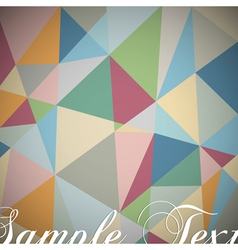 Retro geometric background vector image vector image
