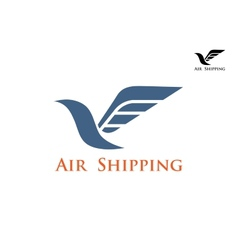 Air shipping symbol or emblem vector image vector image