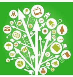 arrow nature tree vector image