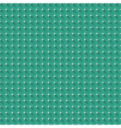 Blue background with seamless white crosses with vector image vector image