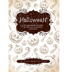 handdrawn halloween vector image vector image