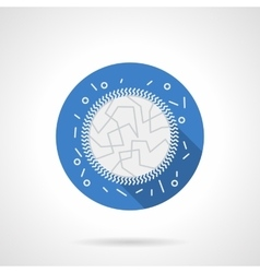 Immunology blue round flat icon vector image vector image