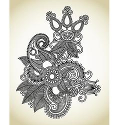 line art ornate flower design vector image vector image