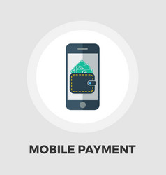 Mobile payment icon flat vector