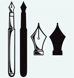 Old ink pen vector image vector image