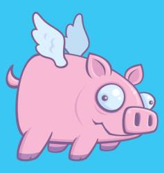 pigs fly vector image vector image