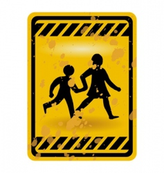 children playing sign vector image vector image