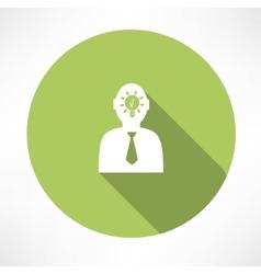 Man head with idea icon vector image