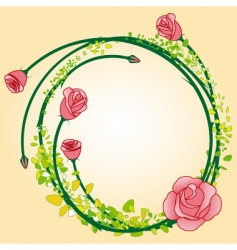rose border vector image vector image