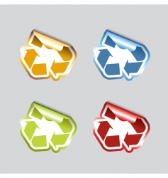 set of recycle icons vector image vector image