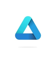 Triangle logo with rounded corners isolated vector image vector image