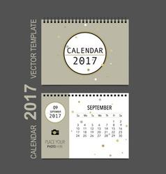 2017 calendar planner design monthly calendar vector