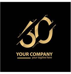 60 year anniversary luxury gold template design vector