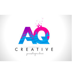 aq a q letter logo with shattered broken blue vector image