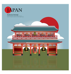 Asakusa sensoji japan landmark vector