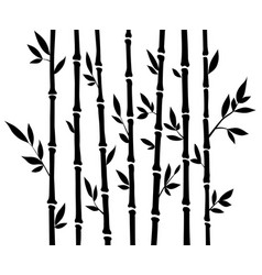 Bamboo silhouette forest set nature japan china vector