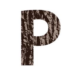 Bark letter P vector