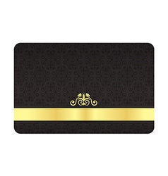 Black VIP Card with Vintage Pattern and Golden vector image