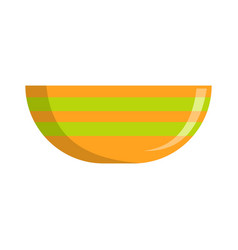 bowl icon flat style vector image