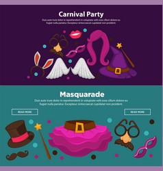 bright carnival funny masquerade and costume vector image