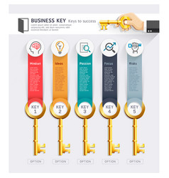 business key concept infographics design template vector image