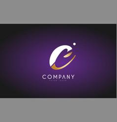 C alphabet letter gold golden logo icon design vector
