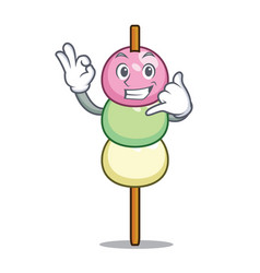 Call me dango mascot cartoon style vector