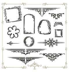 calligraphy design elements vector image
