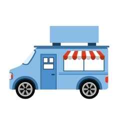 Car fast food shop icon vector